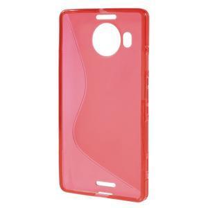 S-line gélový obal pre mobil Microsoft Lumia 950 XL - červený - 2