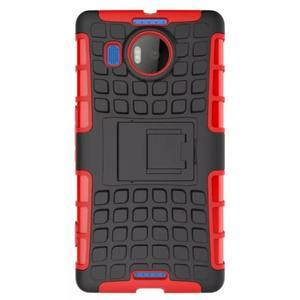 Odolný outdoor obal pre mobil Microsoft Lumia 950 XL - červený - 2