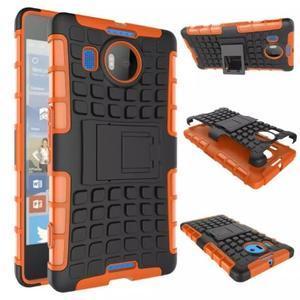 Odolný outdoor obal pre mobil Microsoft Lumia 950 XL - oranžový - 2