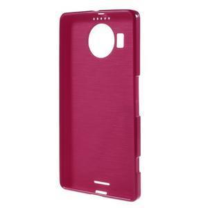 Jelly lesklý gélový obal pre mobil Microsoft Lumia 950 XL - červený - 2