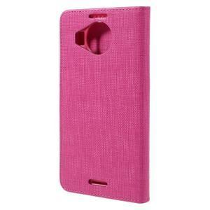 Cloth PU kožené pouzdro na mobil Microsoft Lumia 950 XL - rose - 2