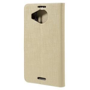 Cloth PU kožené puzdro pre mobil Microsoft Lumia 950 XL - champagne - 2