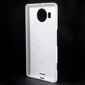 Brushed gélový obal pre mobil Microsoft Lumia 950 XL - biely - 2