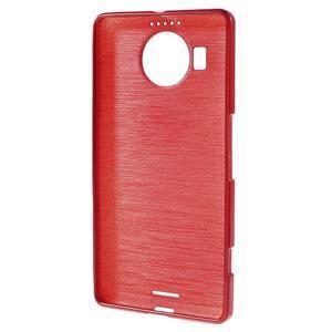 Brushed gélový obal pre mobil Microsoft Lumia 950 XL - červený - 2
