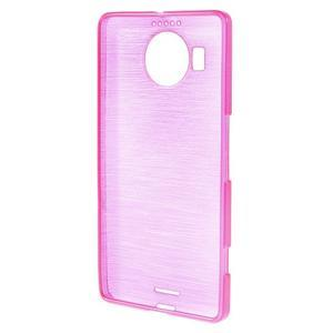 Brushed gélový obal pre mobil Microsoft Lumia 950 XL - rose - 2