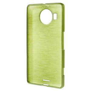 Brushed gélový obal pre mobil Microsoft Lumia 950 XL - zelený - 2