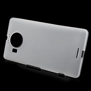 Matný gélový obal pre mobil Microsoft Lumia 950 XL - biely - 2