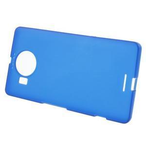 Matný gélový obal pre mobil Microsoft Lumia 950 XL - modrý - 2