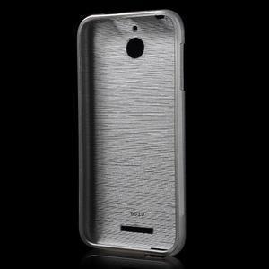Brushed hladký gelový obal na HTC Desire 510 - šedý - 2