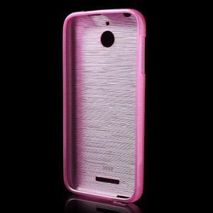 Brushed hladký gélový obal pre HTC Desire 510 - rose - 2