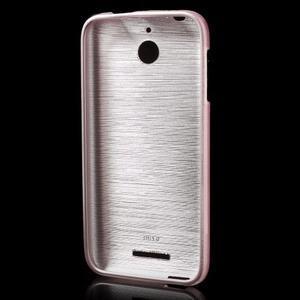 Brushed hladký gélový obal pre HTC Desire 510 - ružový - 2