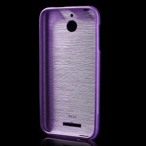 Brushed hladký gélový obal pre HTC Desire 510 - fialový - 2