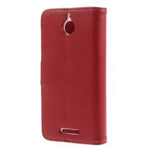 Folio PU kožené pouzdro na mobil HTC Desire 510 - červené - 2
