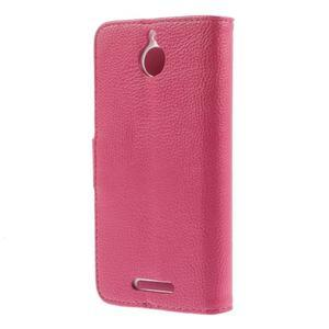 Folio PU kožené pouzdro na mobil HTC Desire 510 - rose - 2