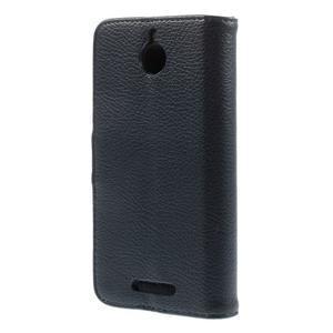 Folio PU kožené pouzdro na mobil HTC Desire 510 - tmavěmodré - 2