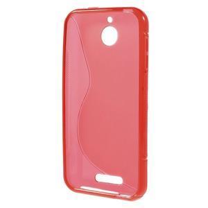 S-line gélový obal pre mobil HTC Desire 510 - červený - 2