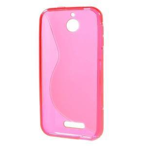 S-line gélový obal pre mobil HTC Desire 510 - rose - 2