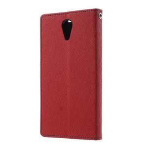 Diary PU kožené puzdro pre mobil HTC Desire 620 - červené - 2