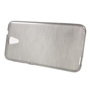 Brushed hladký gelový obal na HTC Desire 620 - šedý - 2