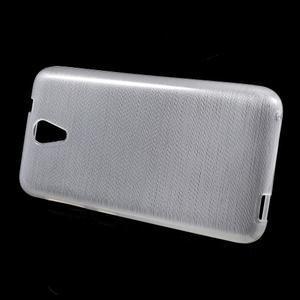 Brushed hladký gelový obal na HTC Desire 620 - bílý - 2