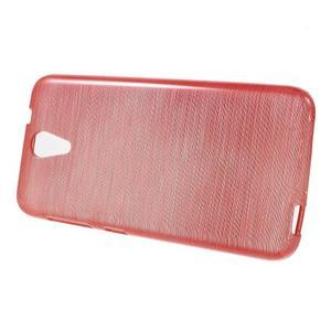 Brushed hladký gelový obal na HTC Desire 620 - červený - 2