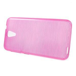 Brushed hladký gelový obal na HTC Desire 620 - rose - 2