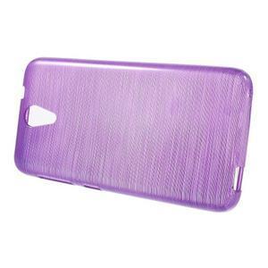 Brushed hladký gelový obal na HTC Desire 620 - fialový - 2