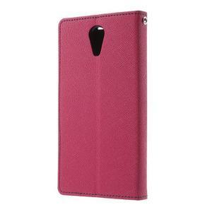 Diary PU kožené puzdro pre mobil HTC Desire 620 - rose - 2