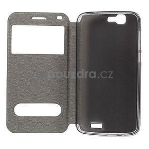 Klopové puzdro s okienkami na Huawei Ascend G7 - rose - 2