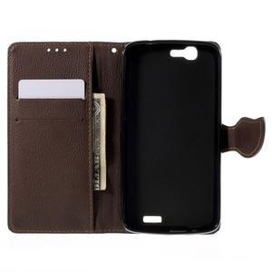 Čierne peňaženkové puzdro na Huawei Ascend G7 - 2