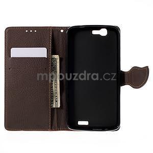 Červené peňaženkové puzdro na Huawei Ascend G7 - 2