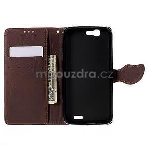 Rose peňaženkové puzdro na Huawei Ascend G7 - 2