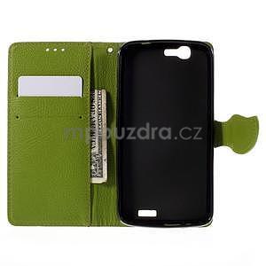 Hnedé peňaženkové puzdro na Huawei Ascend G7 - 2