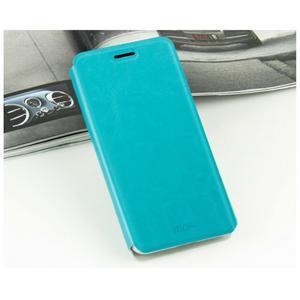 Modré PU kožené puzdro na Huawei Y635 - 2