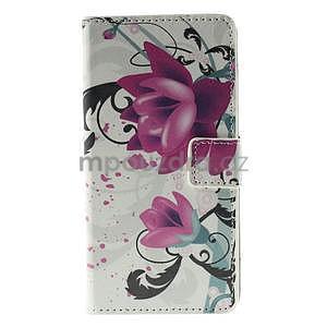 Peňaženkové puzdro Huawei Y635 - kvetinový vzor - 2