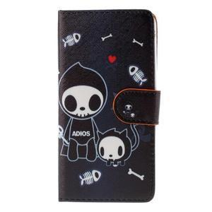 Zapínacie peňaženkové puzdro na Huawei Y635 - fishbone - 2