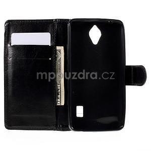 PU kožené čierne puzdro so zapínaním Huawei Y635 - 2
