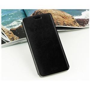 Čierne PU kožené puzdro na Huawei Y635 - 2