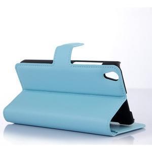 Štýlové peňaženkové puzdro pre Lenovo S850 - modré - 2