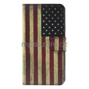 Peňaženkové puzdro na Microsoft Lumia 640 - vlajka USA - 2