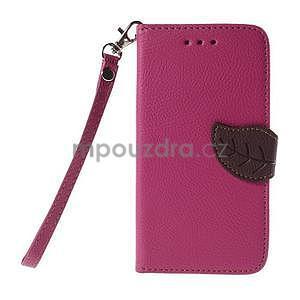 PU kožené púzdro so zapínaním na Nokia Lumia 730/735 - rose - 2