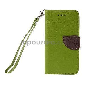 PU kožené púzdro so zapínaním na Nokia Lumia 730/735 - zelené - 2