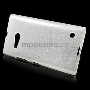 Gélový obal Brush na Nokia Lumia 730/735 -biely - 2