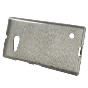 Gélový obal Brush na Nokia Lumia 730/735 - šedý - 2
