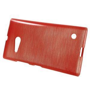 Gélový obal Brush na Nokia Lumia 730/735 - červený - 2