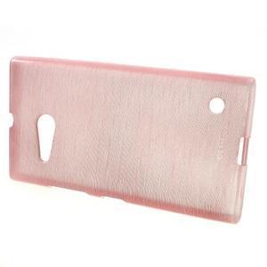 Gélový obal Brush na Nokia Lumia 730/735 - ružový - 2