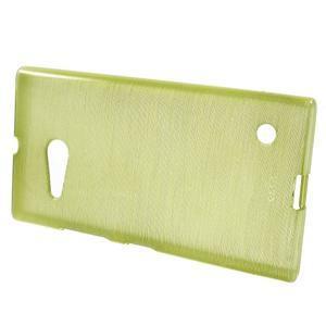 Gélový obal Brush na Nokia Lumia 730/735 - zelený - 2