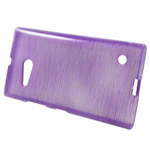 Gélový obal Brush na Nokia Lumia 730/735 - fialový - 2