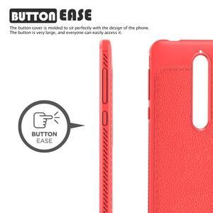 IVS gélový obal so štýlovou textúrou na Nokia 6.1 - červený - 2
