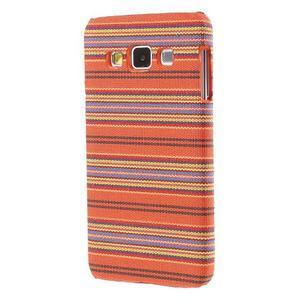 Obal potažený látkou na Samsung Galaxy A3 - oranžový - 2